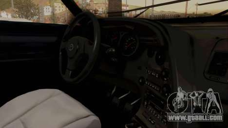 Jester Supra for GTA San Andreas inner view