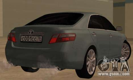 Toyota Camry 2007 for GTA San Andreas back left view