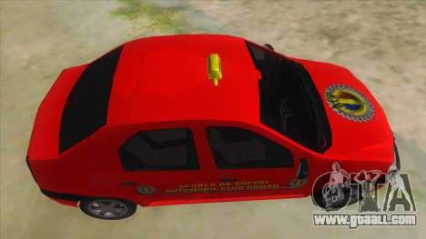 Dacia Logan Scoala for GTA San Andreas inner view