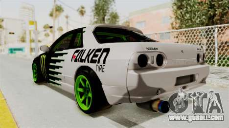 Nissan Skyline R32 Drift Monster Energy Falken for GTA San Andreas left view