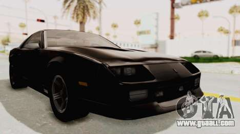 Chevrolet Camaro Z28 Iroc-Z Targa 1991 for GTA San Andreas right view