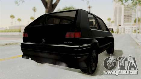 Volkswagen Golf 2 Tuning for GTA San Andreas back left view