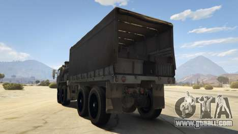 GTA 5 Heavy Expanded Mobility Tactical Truck rear left side view