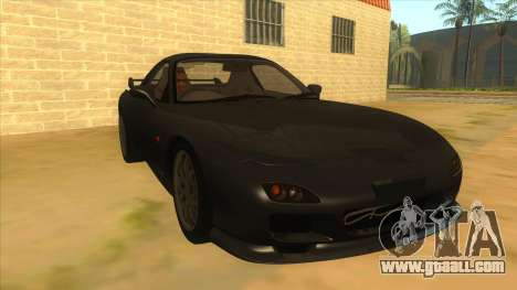 Mazda RX7 S Spirit R for GTA San Andreas back view