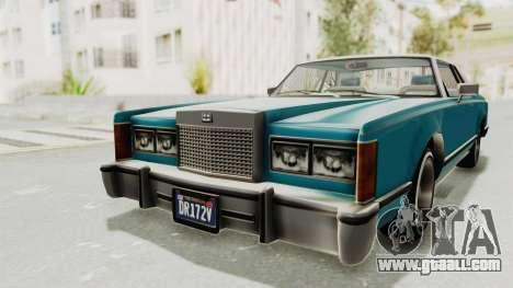 GTA 5 Dundreary Virgo Classic Custom v3 for GTA San Andreas back view