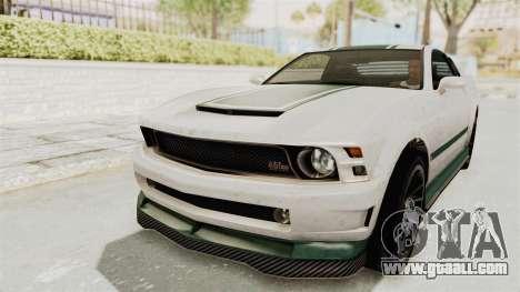 GTA 5 Vapid Dominator v2 SA Style for GTA San Andreas upper view