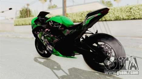 Kawasaki Ninja 250FI Kochiya Sanae Itasha for GTA San Andreas left view