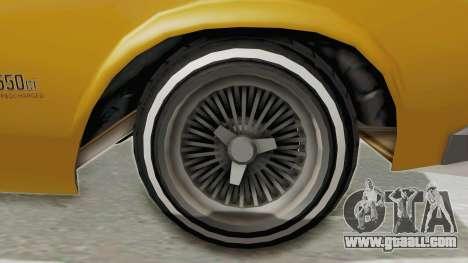 GTA 5 Declasse Sabre GT2 B IVF for GTA San Andreas back view