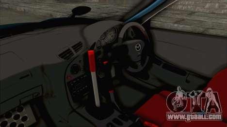 Mazda RX-7 FD3S Rocket Bunny v2 for GTA San Andreas inner view