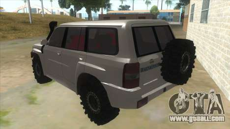 Nissan Patrol Y61 for GTA San Andreas back left view