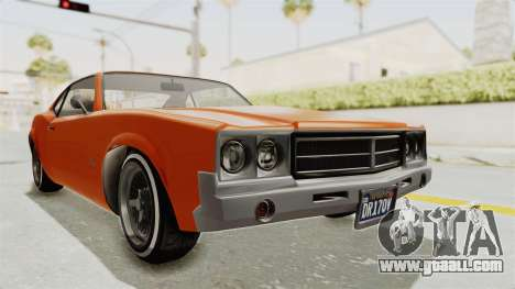 GTA 5 Declasse Sabre GT2 B for GTA San Andreas right view