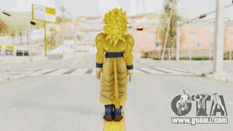 Dragon Ball Xenoverse Goku SSJ4 Golden for GTA San Andreas third screenshot