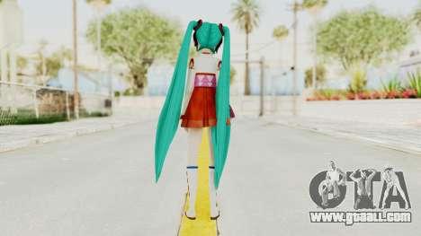 Project Diva F2nd - Hatsune Miku (Shrine Maiden) for GTA San Andreas third screenshot