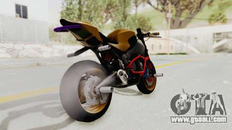 Honda CBR1000RR Naked Bike Stunt for GTA San Andreas left view
