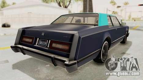 GTA 5 Dundreary Virgo Classic Custom v2 IVF for GTA San Andreas left view