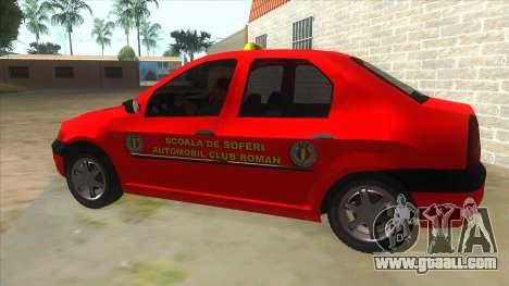 Dacia Logan Scoala for GTA San Andreas left view