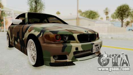 BMW 3 Series E46 for GTA San Andreas back left view