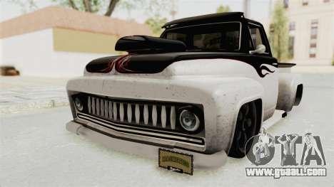 GTA 5 Slamvan Lowrider PJ1 for GTA San Andreas back left view