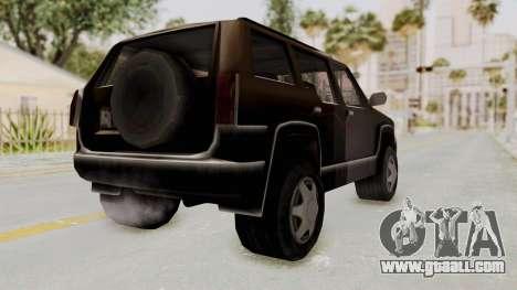 Landstalker from GTA 3 for GTA San Andreas back left view