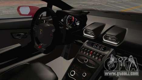 Lamborghini Huracan 2014 Stock for GTA San Andreas inner view