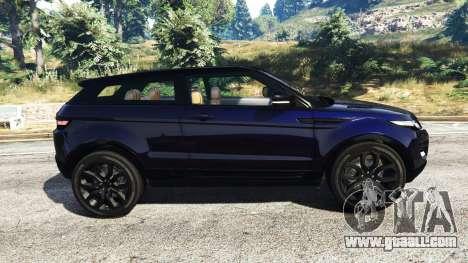 GTA 5 Range Rover Evoque v5.0 left side view