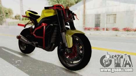 Kawasaki Ninja ZX-10R Nakedbike Stunter for GTA San Andreas back left view