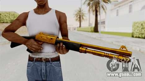 XM1014 Gold for GTA San Andreas third screenshot