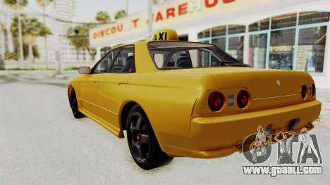 Nissan Skyline R32 4 Door Taxi for GTA San Andreas left view