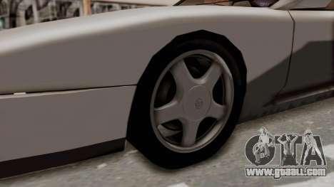 Jester Supra for GTA San Andreas back view