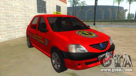 Dacia Logan Scoala for GTA San Andreas back view