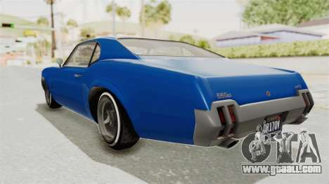 GTA 5 Declasse Sabre GT2 A for GTA San Andreas left view