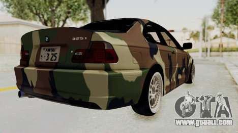 BMW 3 Series E46 for GTA San Andreas left view