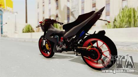 Satria FU 150 Modif FU 250 Superbike for GTA San Andreas left view