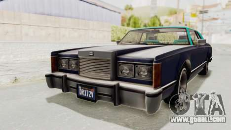 GTA 5 Dundreary Virgo Classic Custom v2 IVF for GTA San Andreas right view