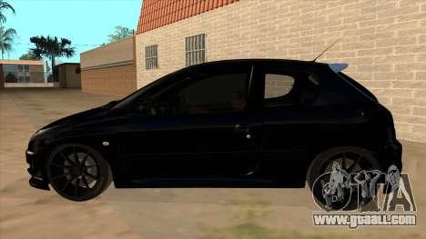 Peugeot 206 MO Edit for GTA San Andreas left view