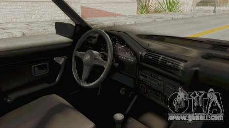 BMW M3 E30 for GTA San Andreas inner view