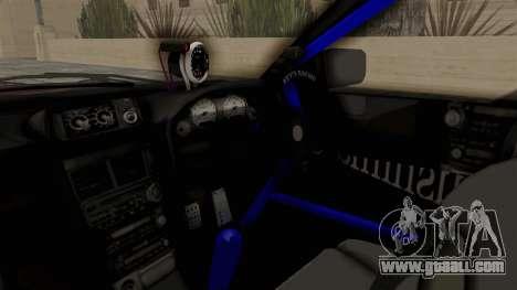 Nissan Skyline ER34 for GTA San Andreas inner view