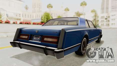 GTA 5 Dundreary Virgo Classic Custom v1 IVF for GTA San Andreas back left view