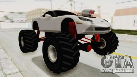 Chevrolet Corvette C6 Monster Truck for GTA San Andreas right view