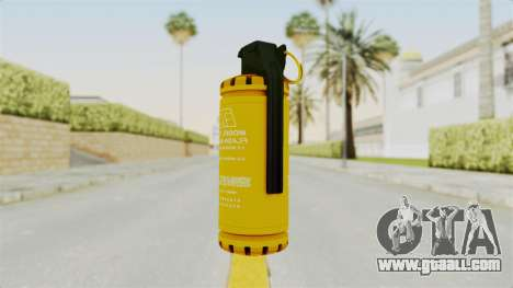 Tear Gas Gold for GTA San Andreas