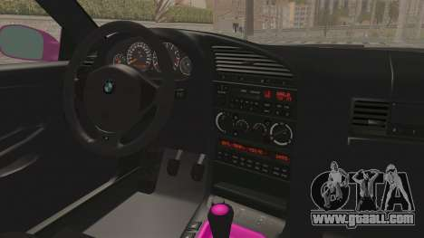 BMW M3 E36 Beauty for GTA San Andreas inner view