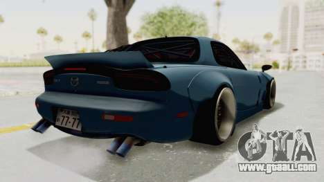 Mazda RX-7 FD3S Rocket Bunny v2 for GTA San Andreas back left view