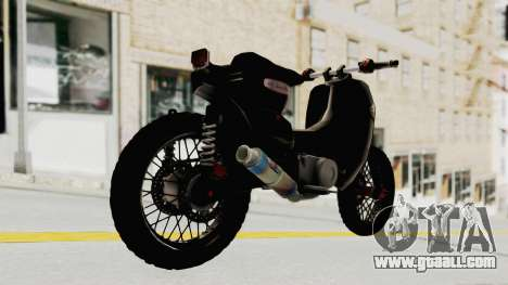 Honda Super Cub Modif Moge for GTA San Andreas left view