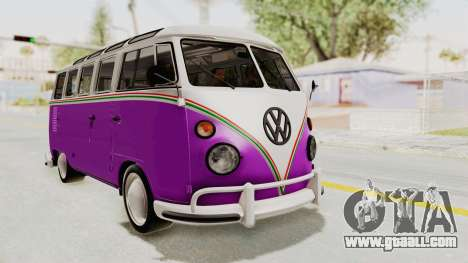 Volkswagen T1 Station Wagon De Luxe Type2 1963 for GTA San Andreas right view