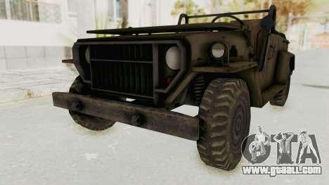 MGSV Jeep No LMG for GTA San Andreas right view