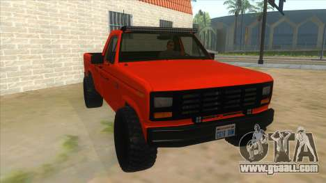 1984 Ford F150 Final for GTA San Andreas back view