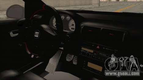 Seat Leon CupraR 2003 for GTA San Andreas inner view