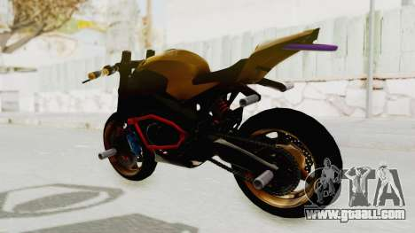 Honda CBR1000RR Naked Bike Stunt for GTA San Andreas back left view