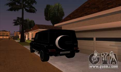 Mercedes G55 Kompressor for GTA San Andreas back left view