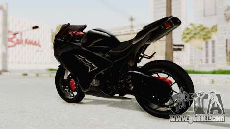 Kawasaki Ninja 300 FI Modification for GTA San Andreas back left view